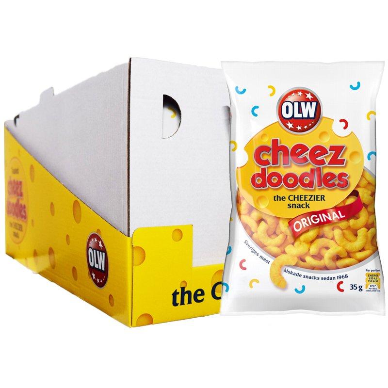 """Hel Låda Snacks """"Cheez Doodles"""" 20 x 35g - 28% rabatt"""