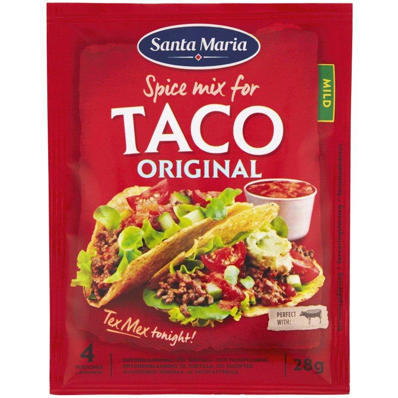 """Mausteseos """"Taco Original"""" Mild 28g - 0% alennus"""