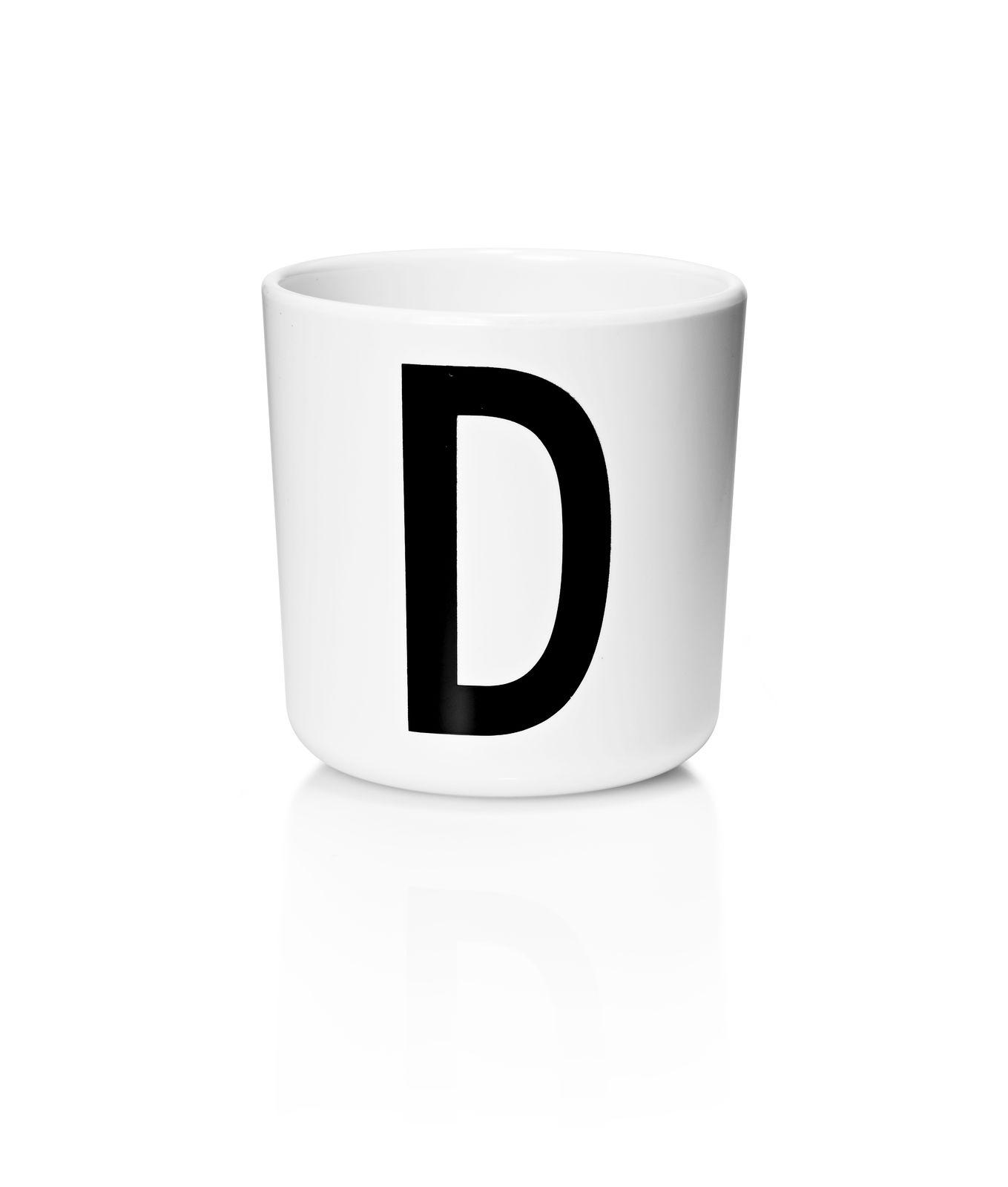 Design Letters - Personal Melamine Cup D - White (20201000D)