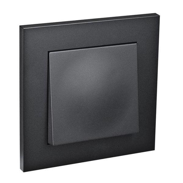 Elko Plus Strømbryter innfelt, 1 pol/trapp, svart