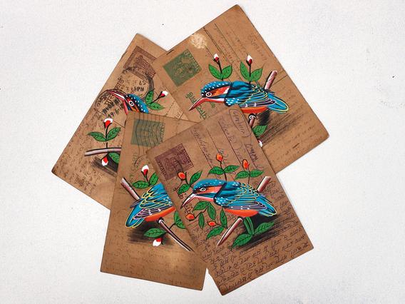 Vintage Postcard - Kingfisher Natural