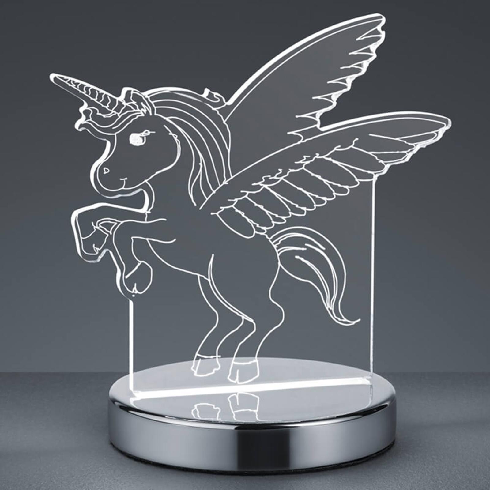 3D-hologrammi-pöytävalaisin Karo, yksisarvinen