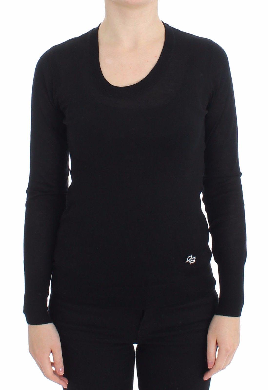 Dolce & Gabbana Women's Crewneck Pullover Black SIG13364 - IT46|XL