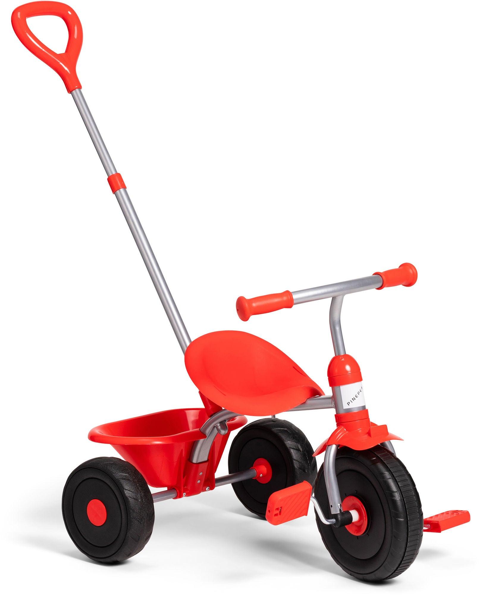 Pinepeak Trehjuling Med Handtag, Röd