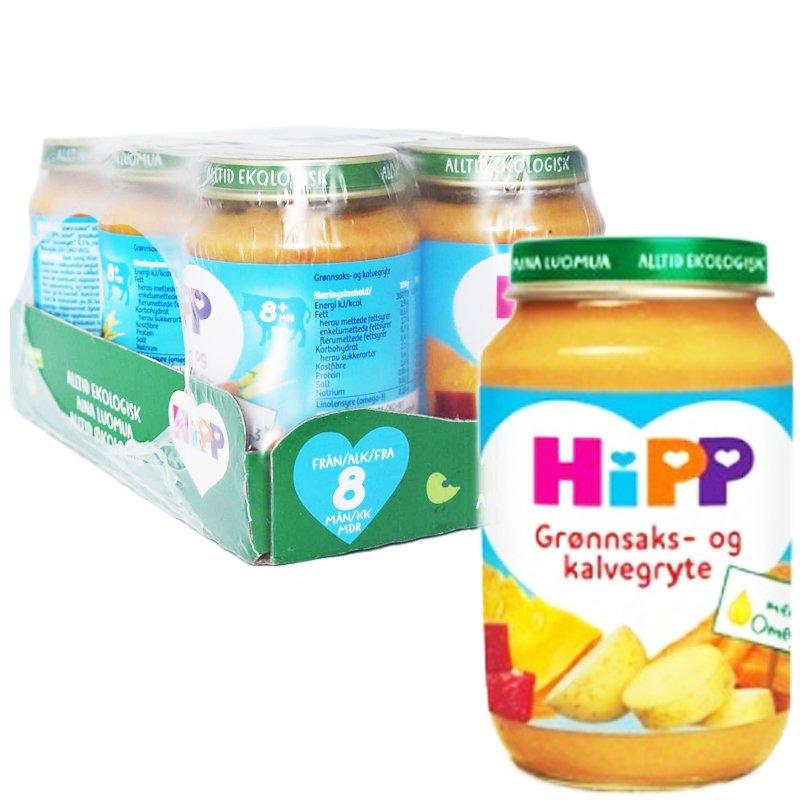 """Laatikollinen lastenruokaa """"Vihannes-naudanlihapata"""" 6 x 190 g - 78% alennus"""