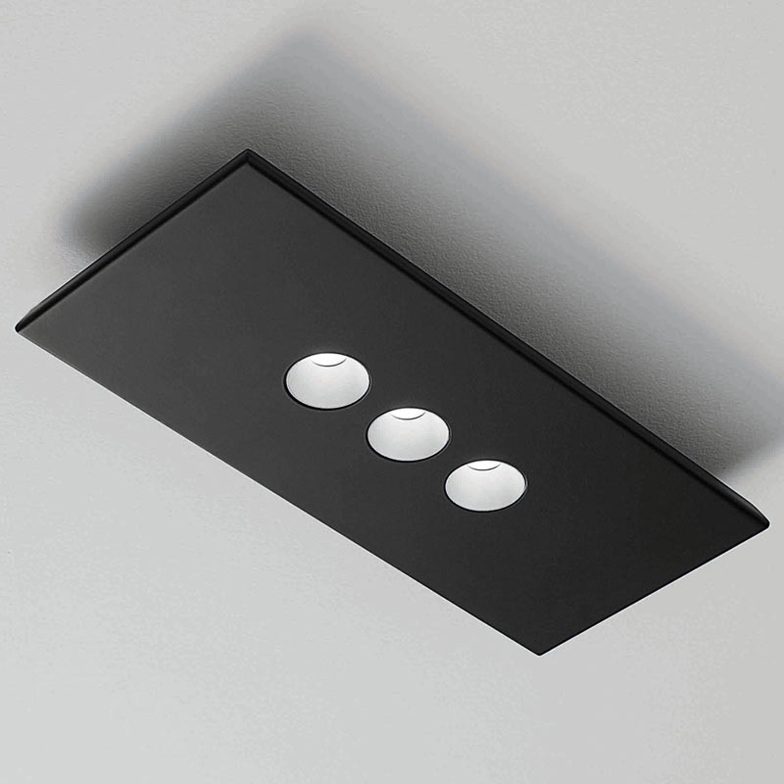 ICONE Confort -LED-seinä- ja kattovalaisin, musta