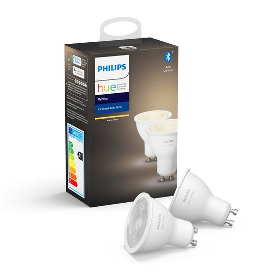 Philips Hue White 5,2 W GU10 LED-lamppu 2 kpl