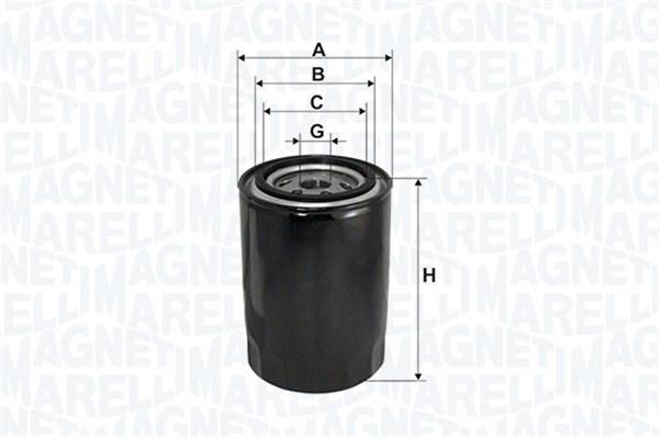 Öljynsuodatin MAGNETI MARELLI 152071758744