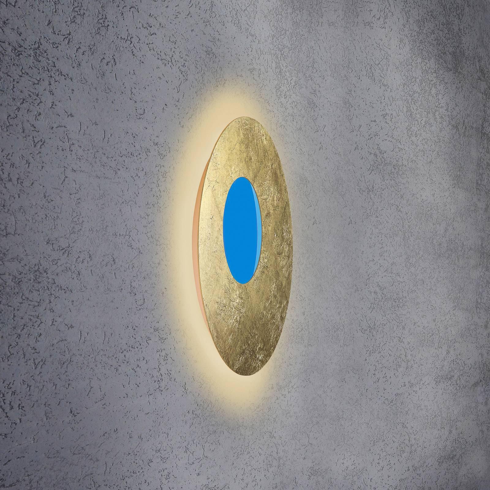 Escale Blade Open LED-vegglampe RGB+W, gull, Ø59cm
