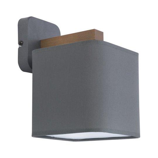 Vegglampe Tora, 1 lyskilde, grå