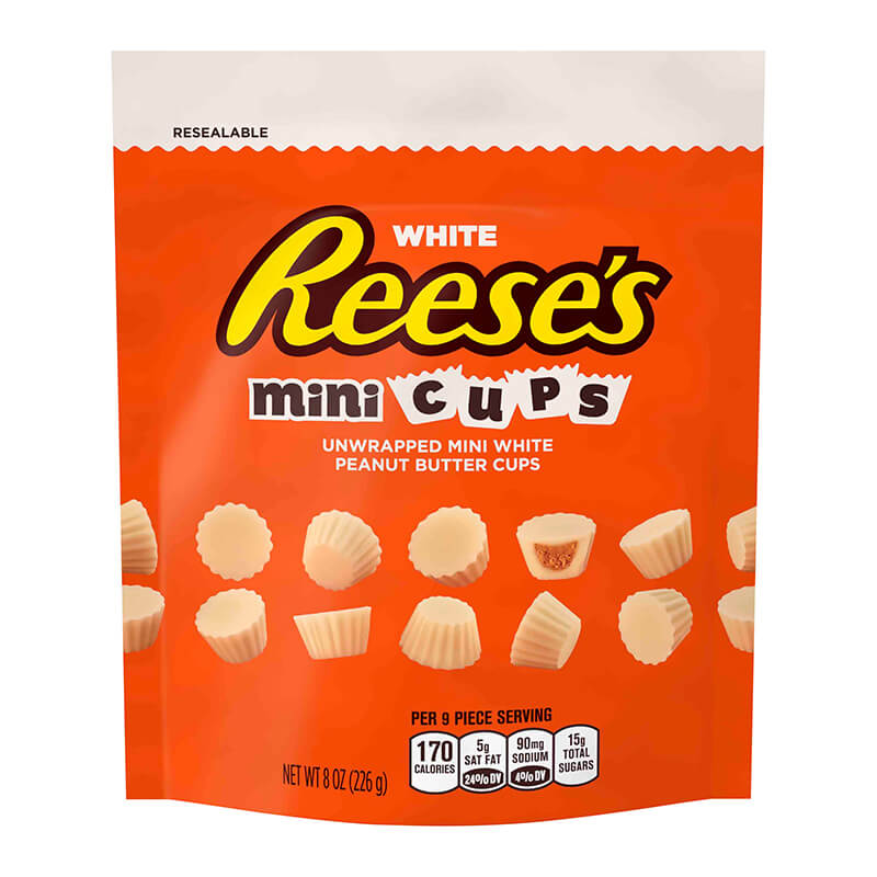 Reeses White Peanut Butter Unwrapped Minis 226g