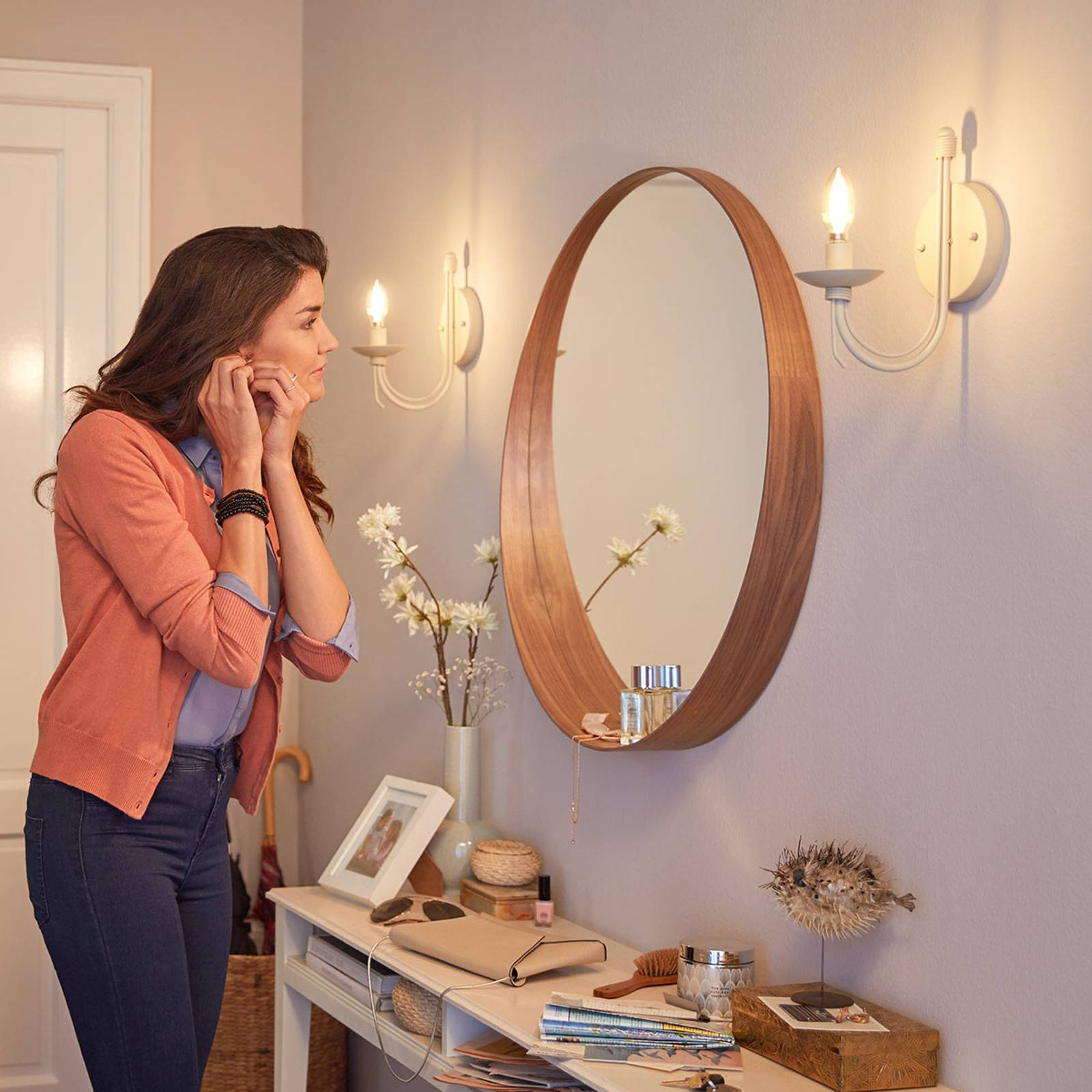 Philips LED-lamppu E14 B35 3,4W 2 700 K WarmGlow