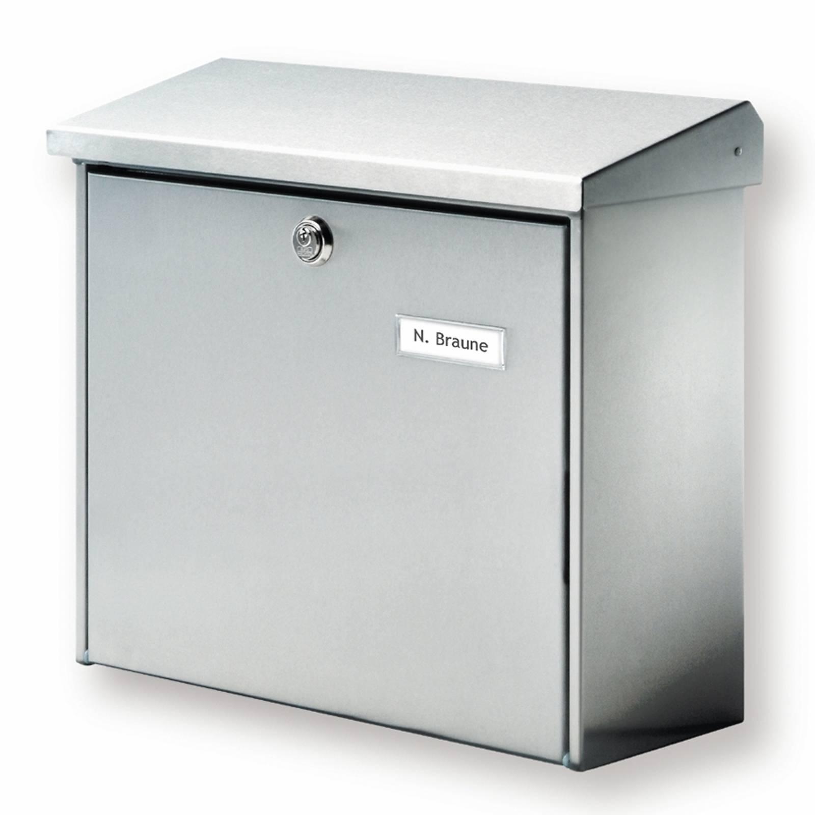 Comfort-postilaatikko, ruostumaton teräs