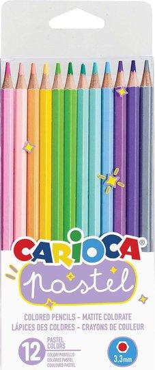 Carioca Fargepenner Pastell 12Stk