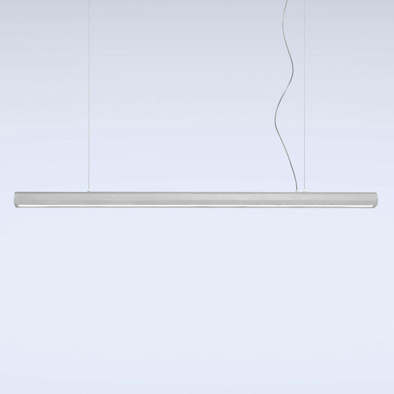 LED-riippuvalaisin Materica, tanko 150 cm, betoni