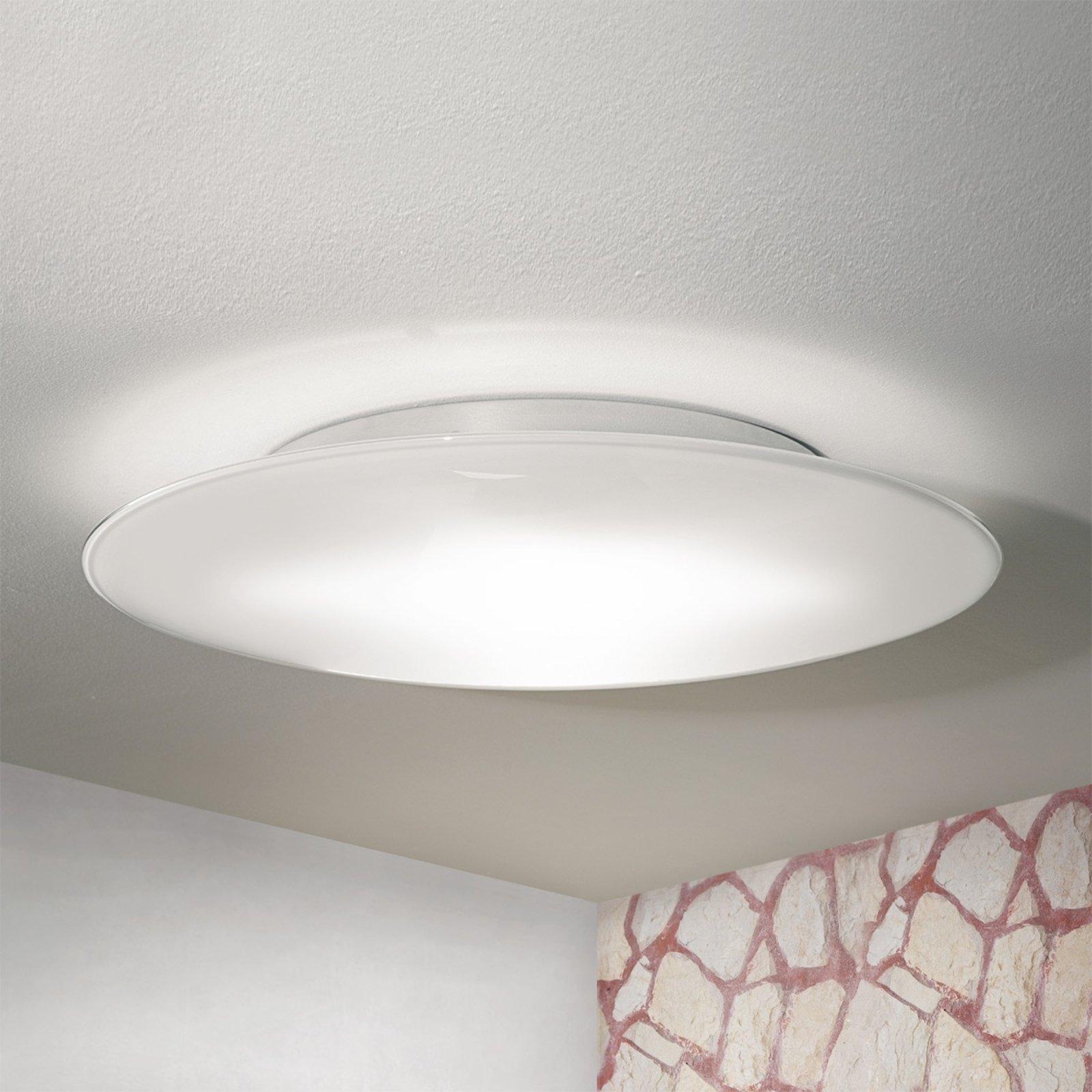 OCTOPUS - taklampe av hvitt muranoglass