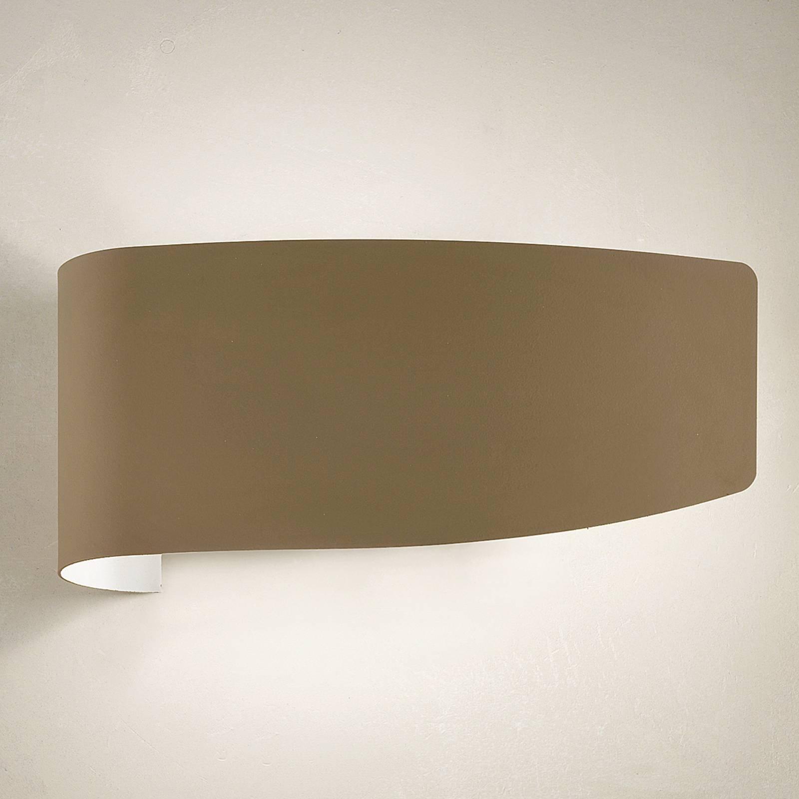 Vegglampe Virgola med dekorativt design, leire
