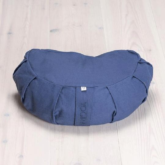 Meditation Cushion Crescent, Blueberry Blue