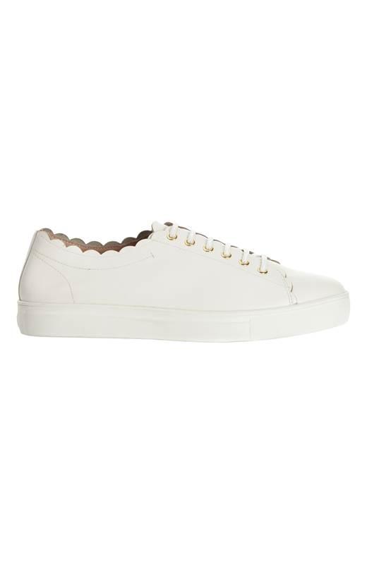 Dasia Sneakers i skinn Starlily Sweet Lace Vit