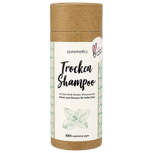 Puremetics Torrschampo för Ljust hår - Pepparmynta, 100 g