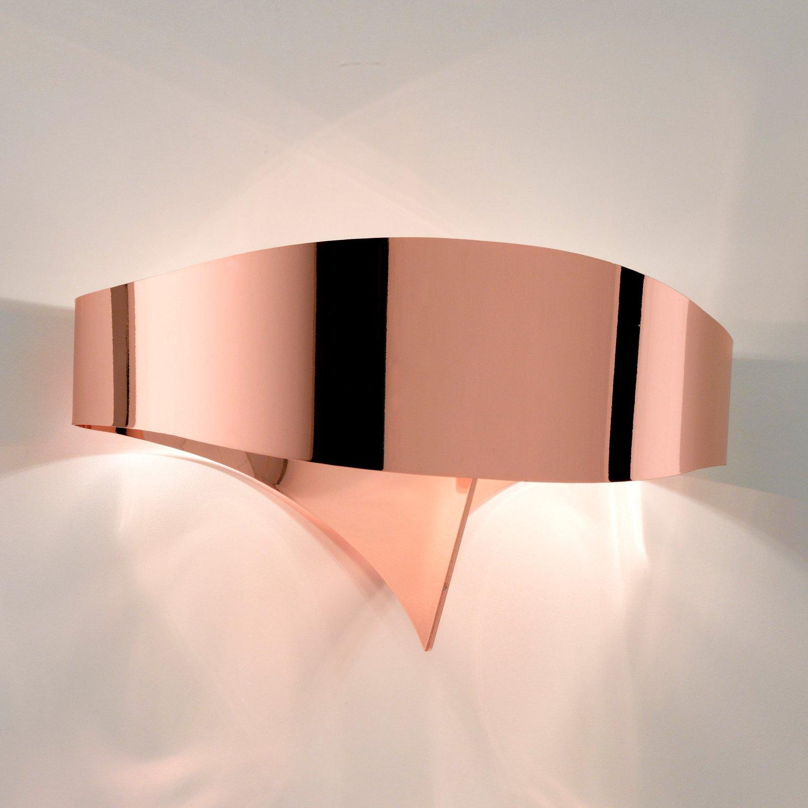 LED-vegglampe Scudo av stål, kobber