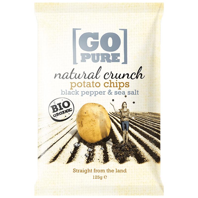 Chips Havssalt & Svartpeppar 125g - 65% rabatt