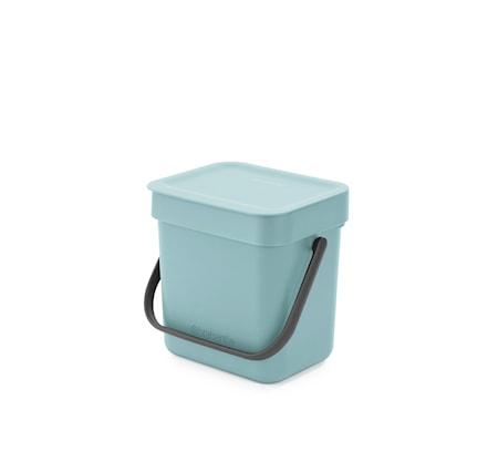 Avfallshink Sort & Go 3 L Mint