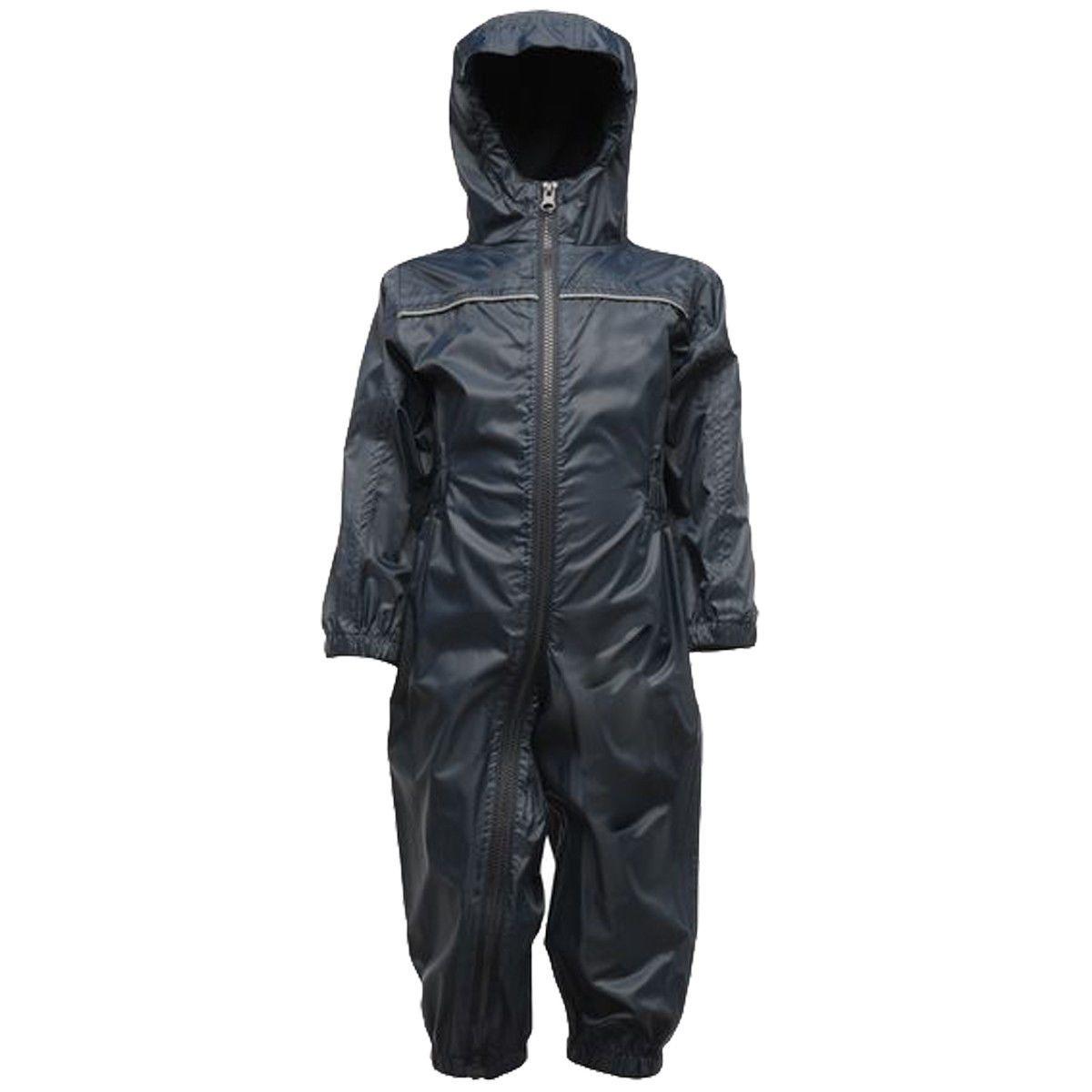 Regatta Kid's Breathable Rain Suit Various Colours L_TRW466 - Navy 6 to 12 Months