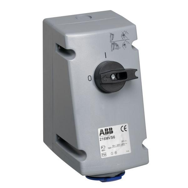 ABB 2CMA167646R1000 Seinäpistorasia IP44, 2P+J, 16 A