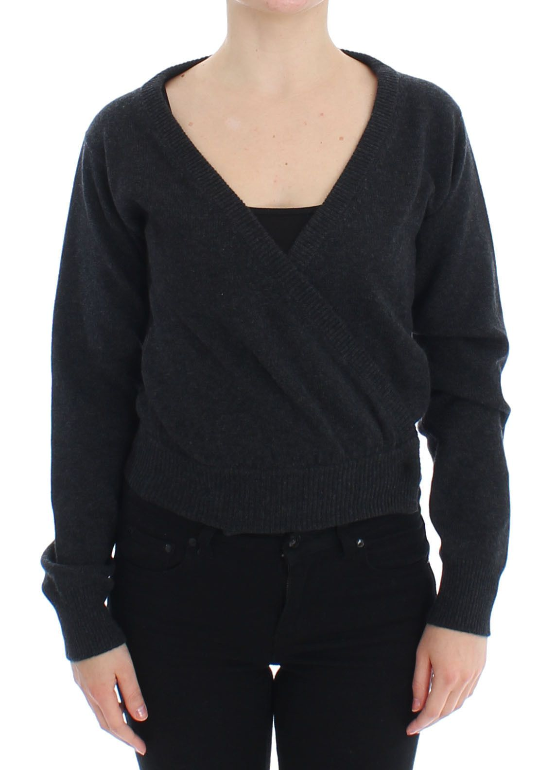 Dolce & Gabbana Women's Cashmere Sweater Pullover Wrap Gray SIG13347 - IT40|S
