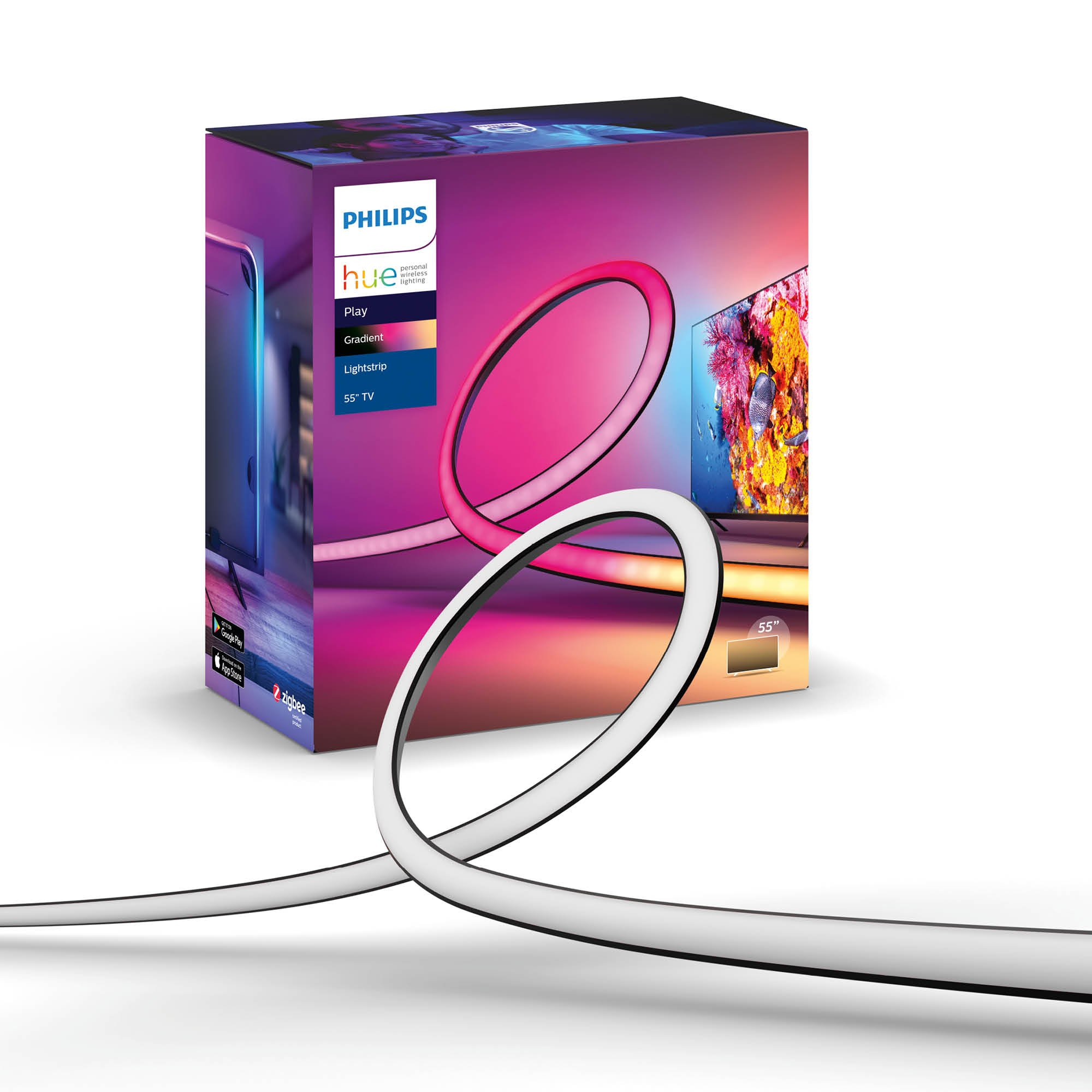 "Philips Hue - Lightstrip Gradient Lightstrip (for TV) TV 55"" EU Requires Hue Sync Box"
