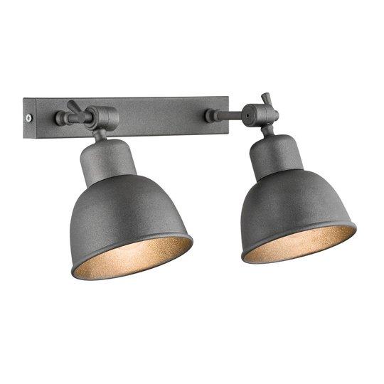 Vegglampe Emoti, 2 lyskilder, antrasitt