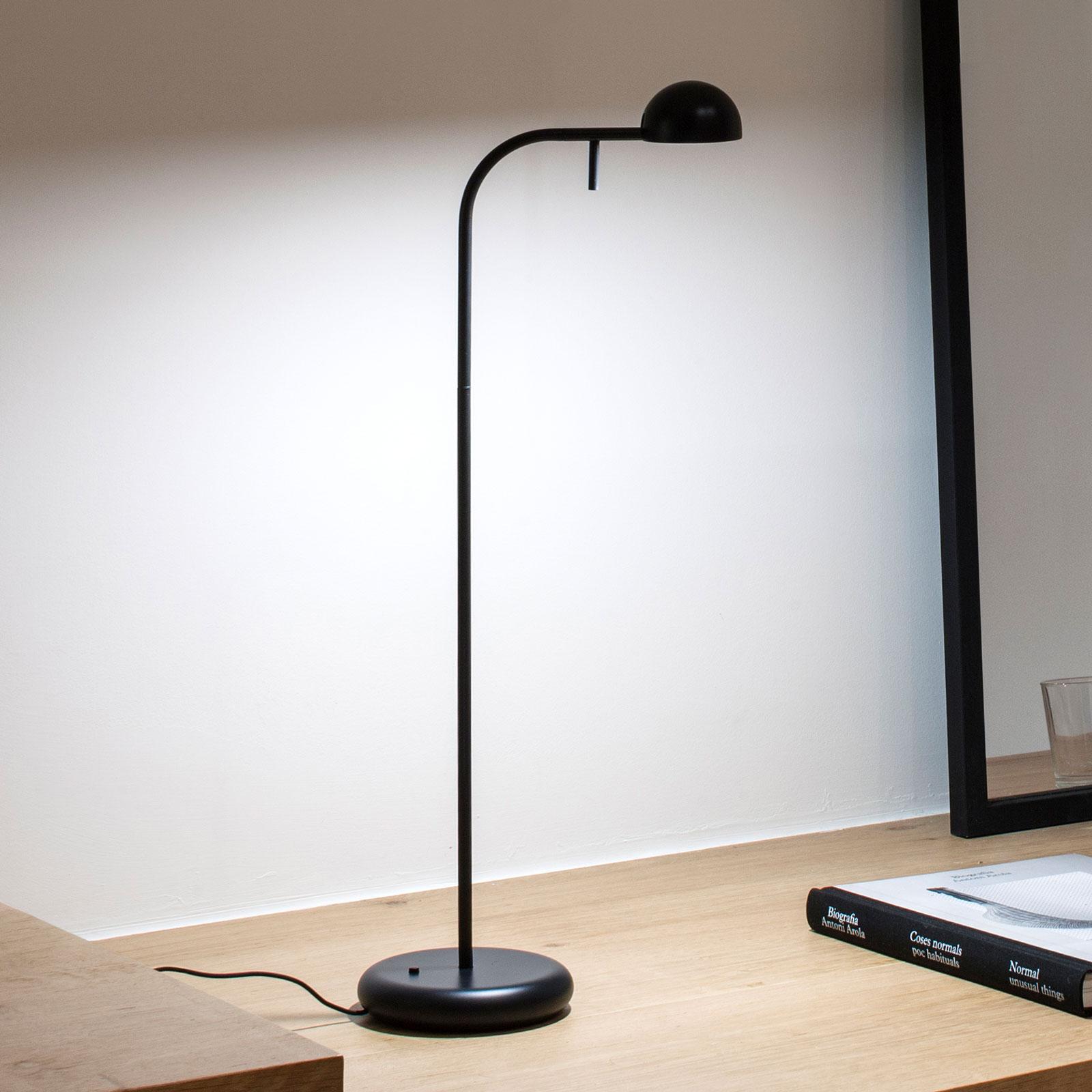 Vibia Pin 1650 LED-pöytävalaisin pituus 23cm musta