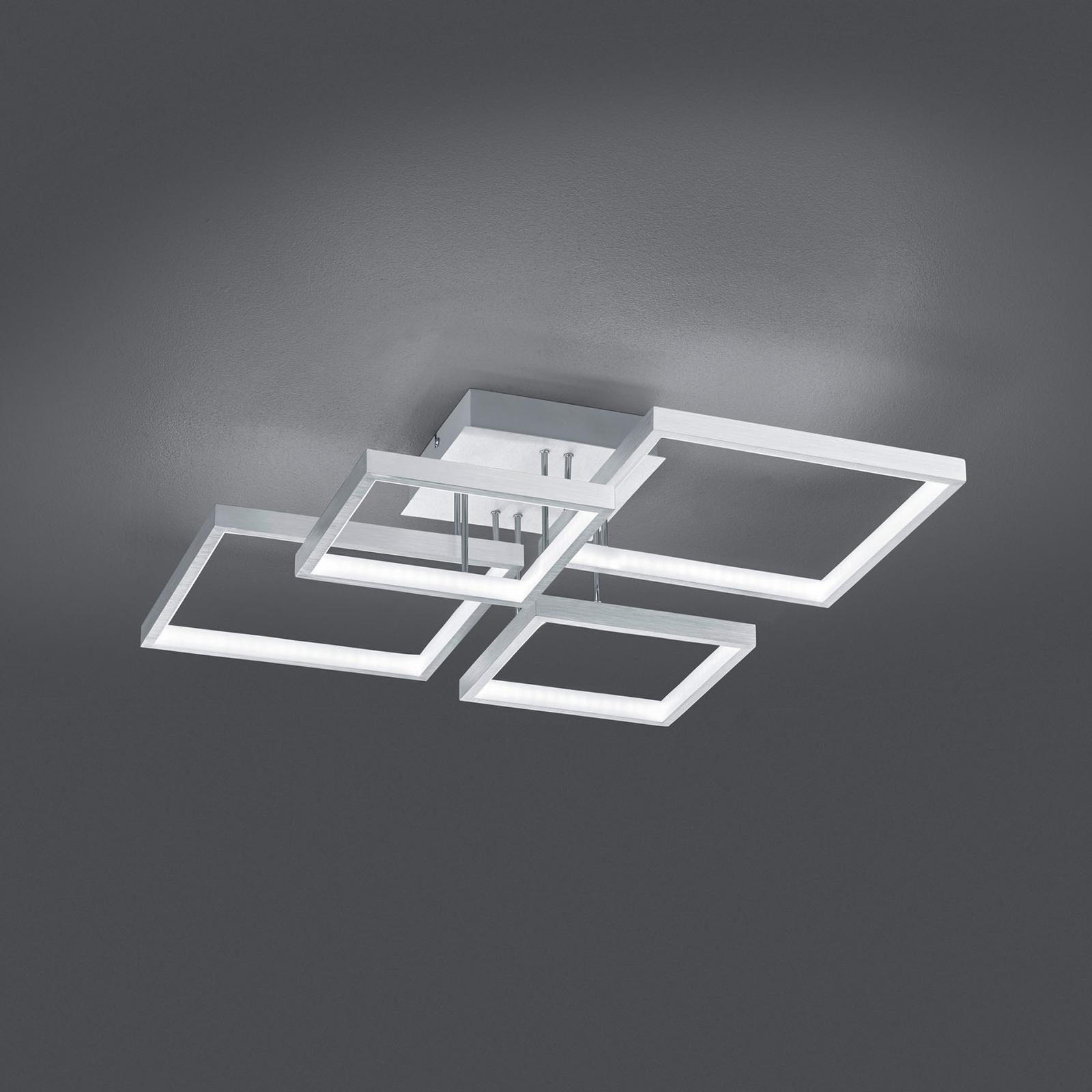 LED-kattovalo Sorrento 52x52cm, harjattu alumiini