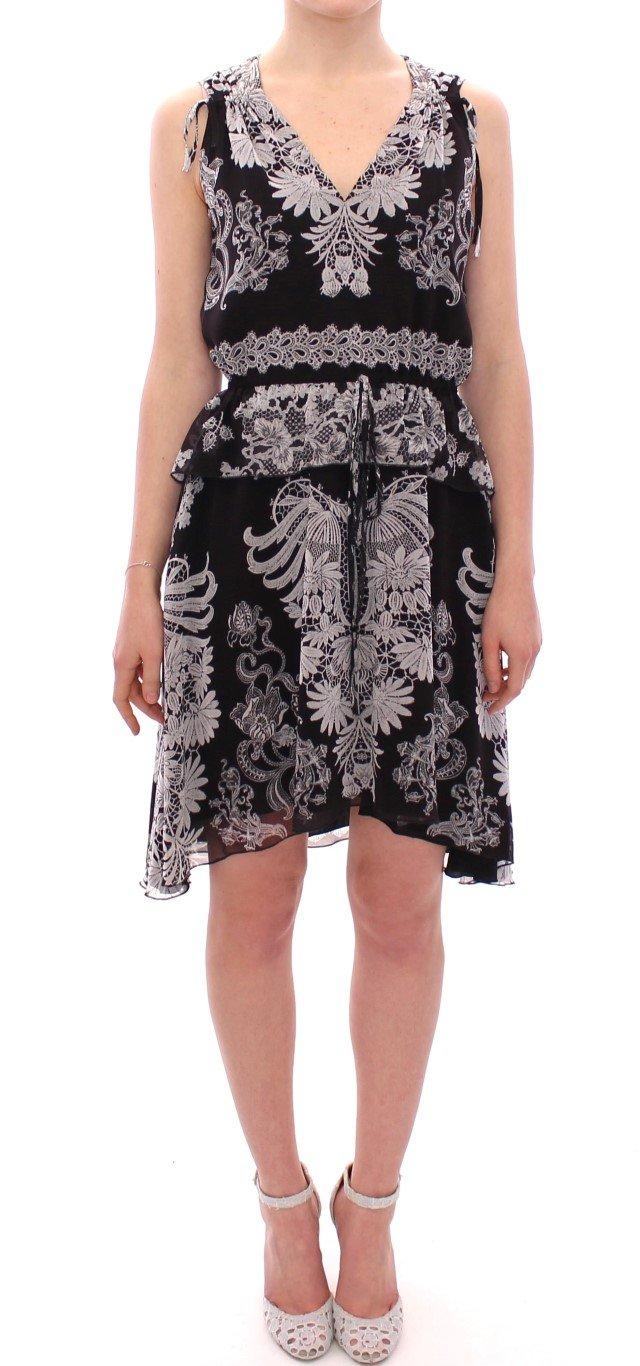 Sachin & Babi Women's Silk Floral Pattern Shift Dress Black GSD12612 - IT42|M