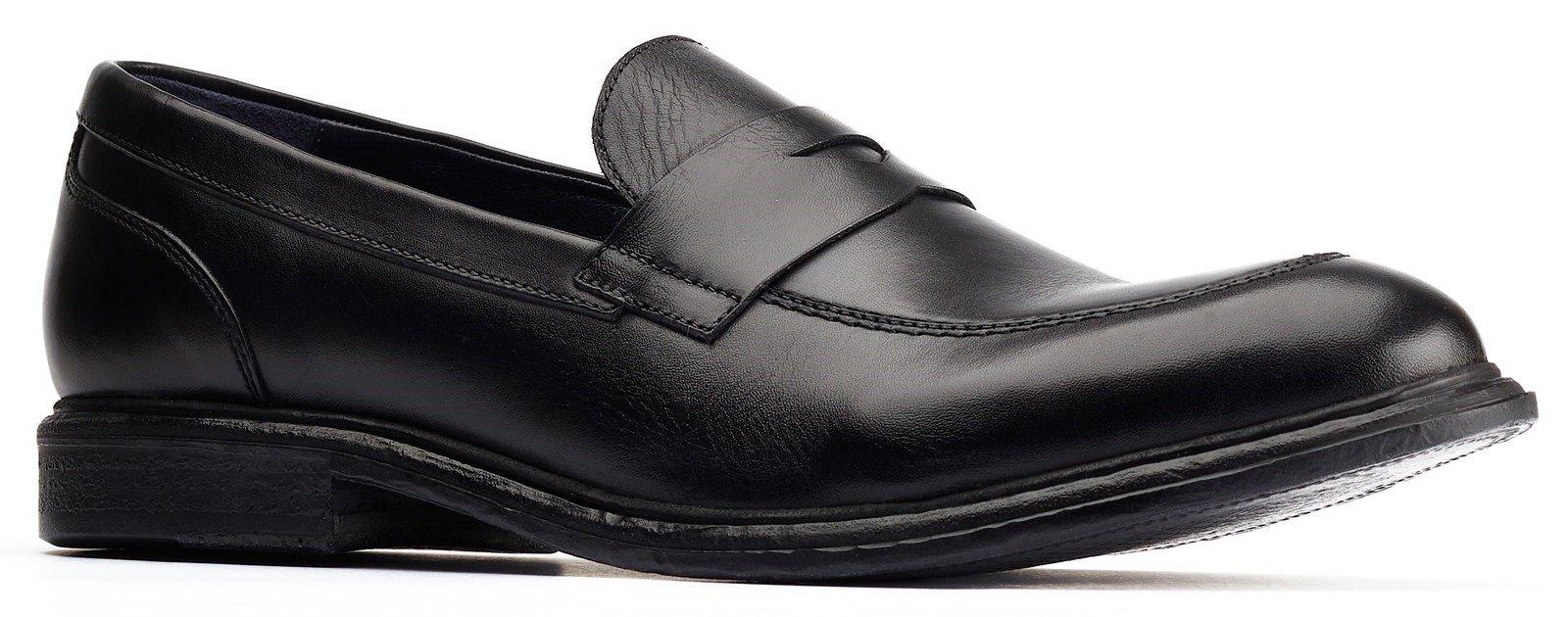 Base London Men's Scoria Loafer Black 31198 - Black 6