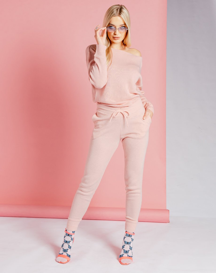 Auriel Knitted Lounge Set - Pink / 8