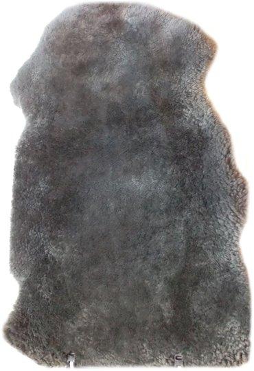 BOZZ Lammeskinn klippet, Mørkegrå