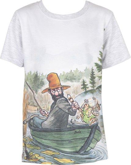 Gubben & Katten T-Shirt, Light Grey , 92