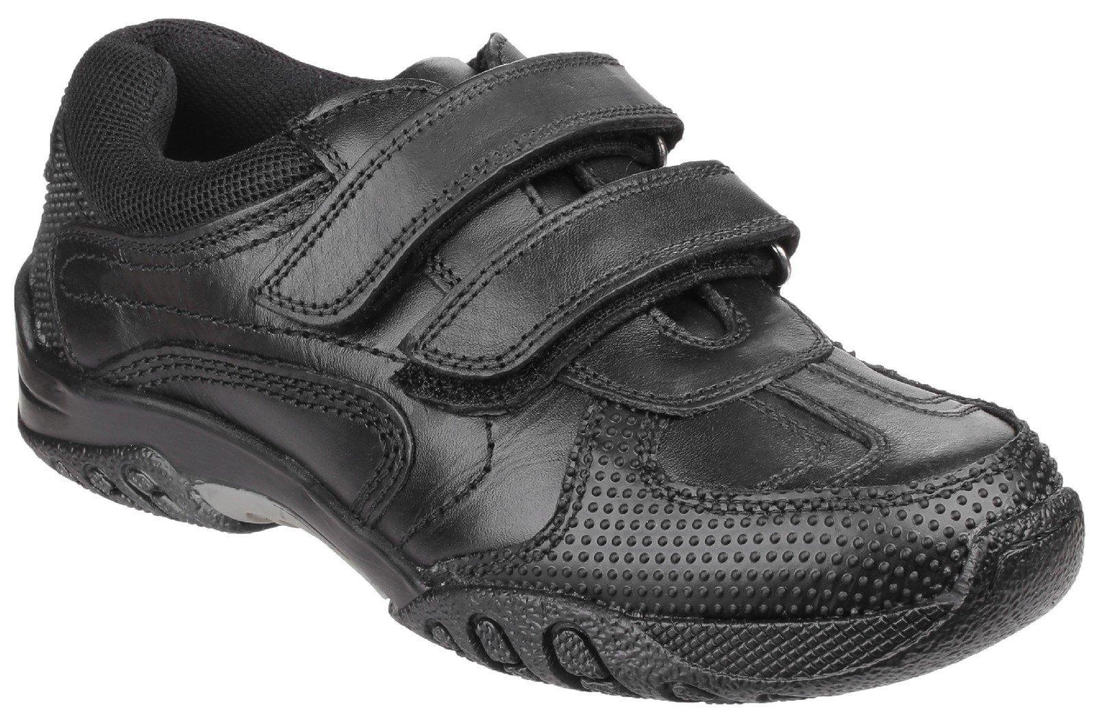 Hush Puppies Kid's Jezza Back To School Shoe Black 25342 - Black 10