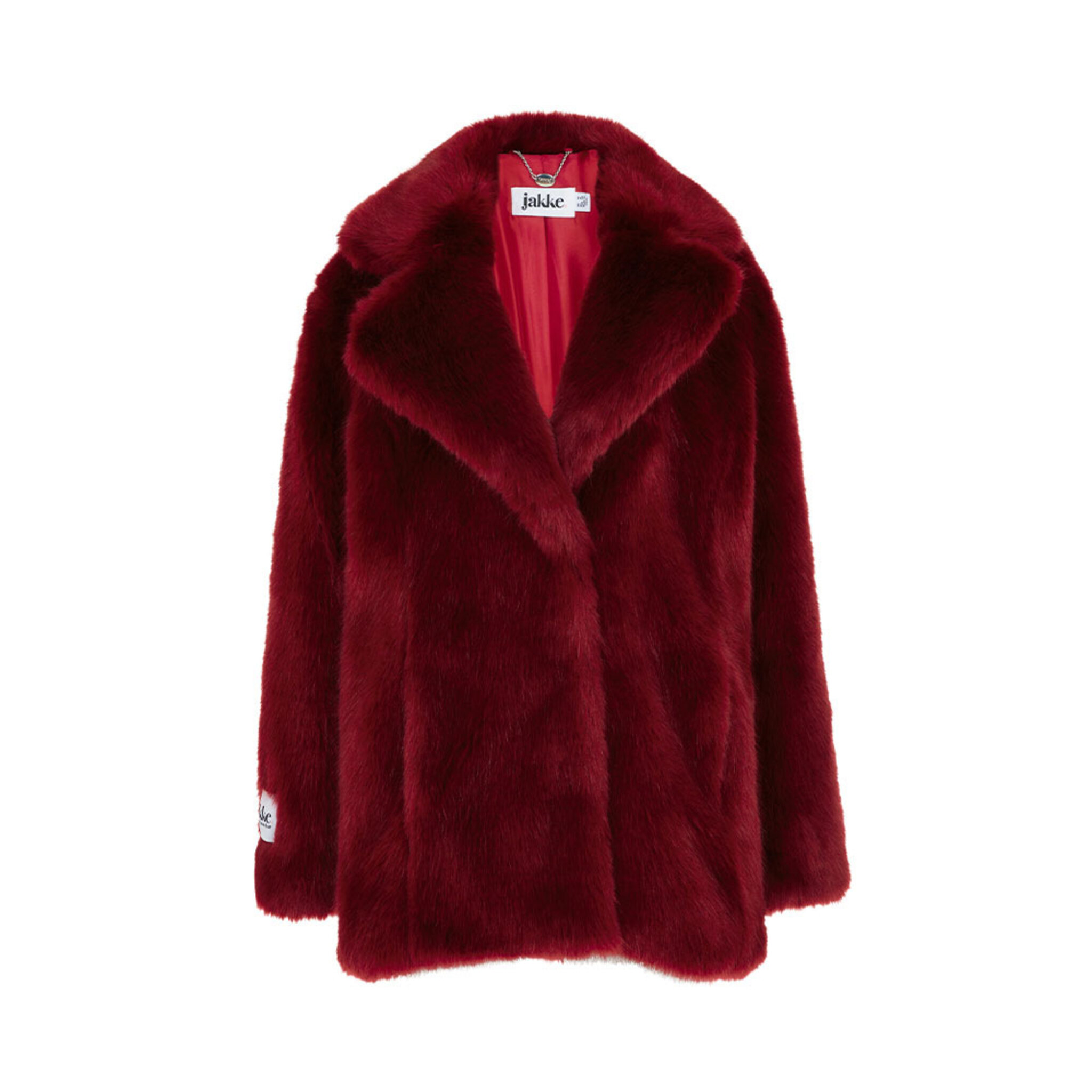 Heather Ruby Red Luxe Faux Fur