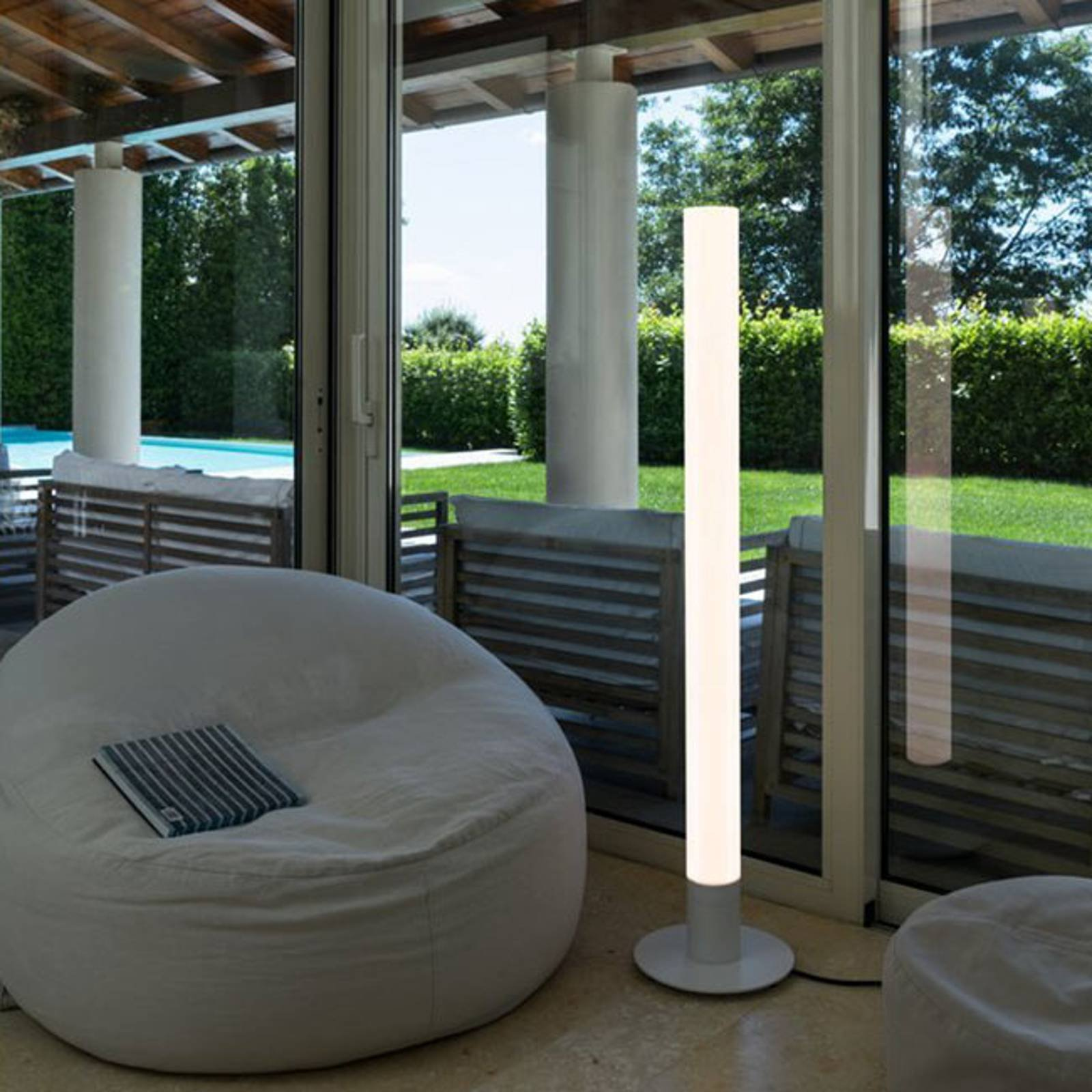 SLV Light Pipe LED-gulvlampe, dimbar, IP55, 140 cm