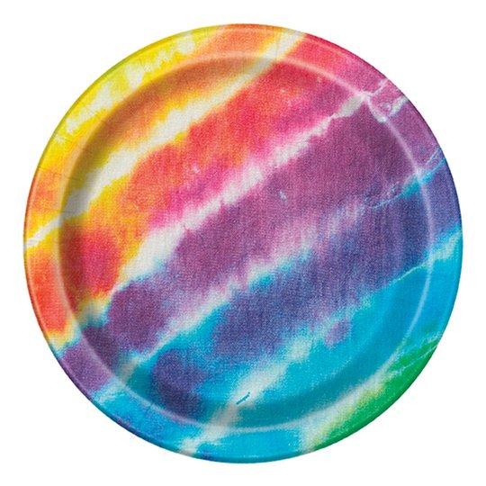 Pappersassietter Tie Dye - 8-pack