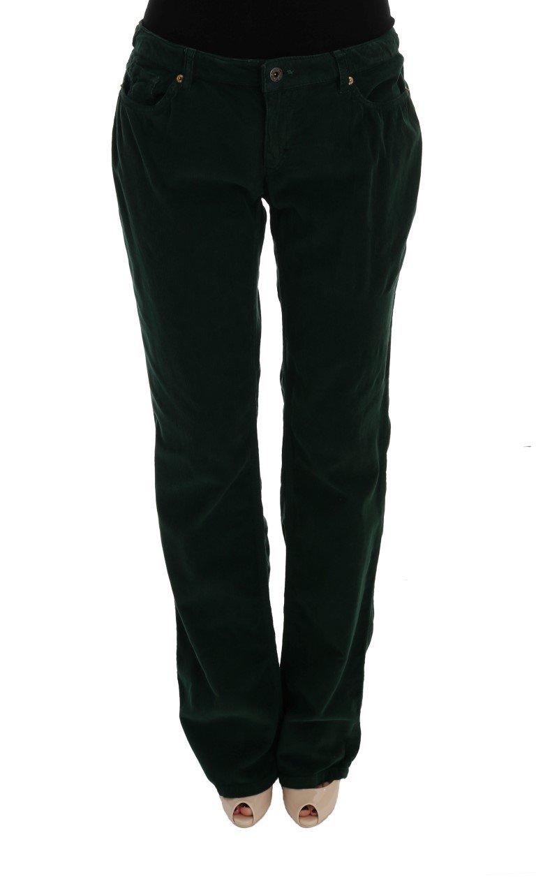 Dolce & Gabbana Women's Cotton Corduroys Jeans Green SIG50012 - W24