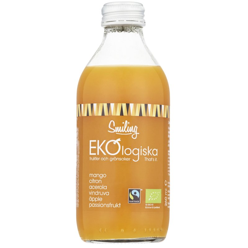 Mehu Acerola, Passionhedelmä ja Mango 260 ml - 33% alennus