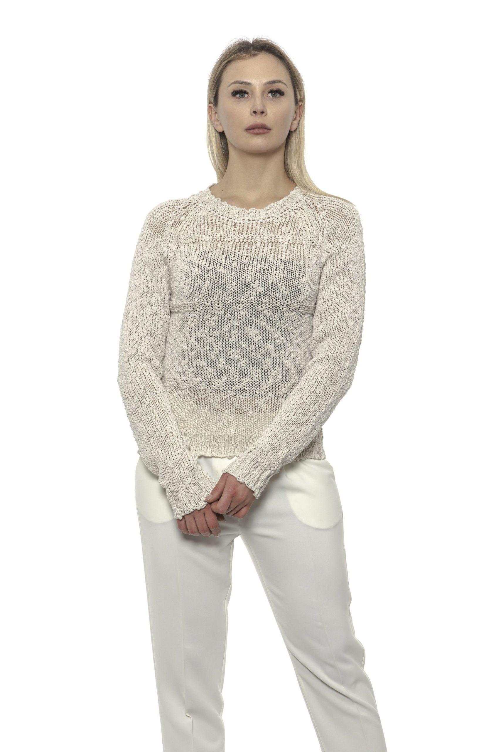 Alpha Studio Women's Ghiaccio Sweater White AL1375150 - IT40 | XS