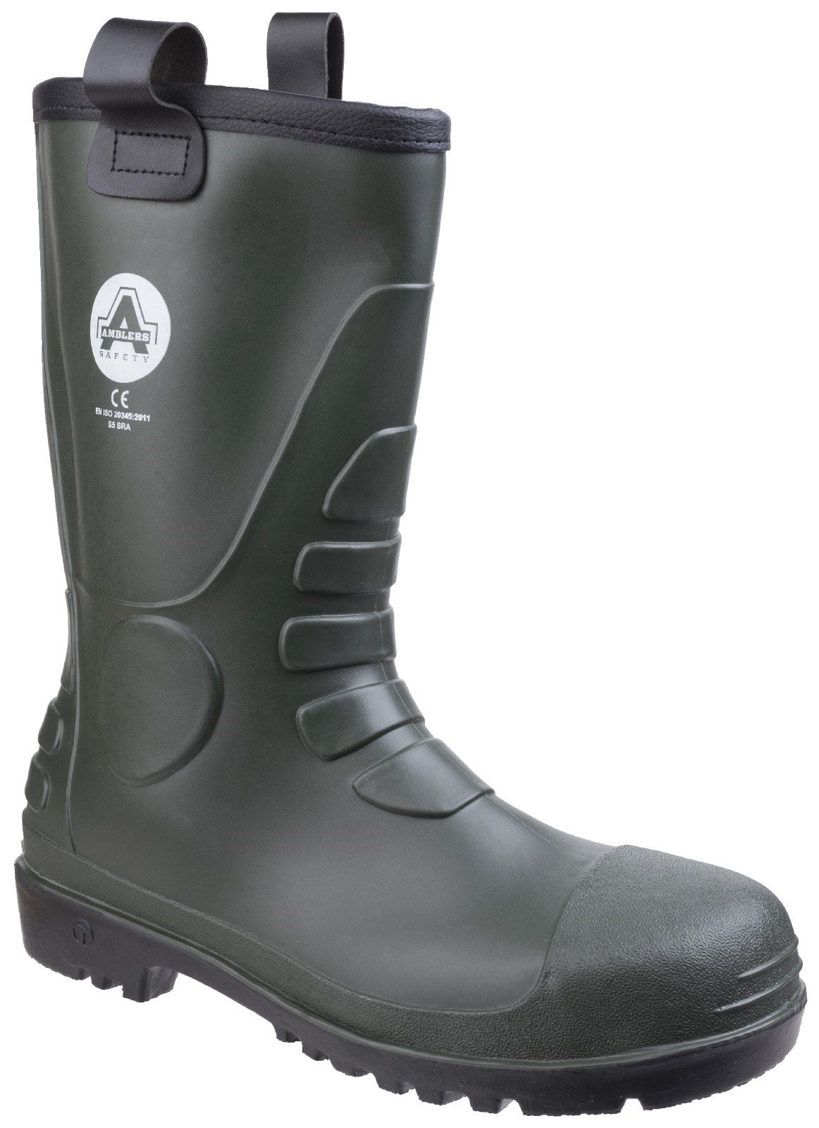 Amblers Unisex Safety PVC Rigger Boot Green 21154 - Green 12