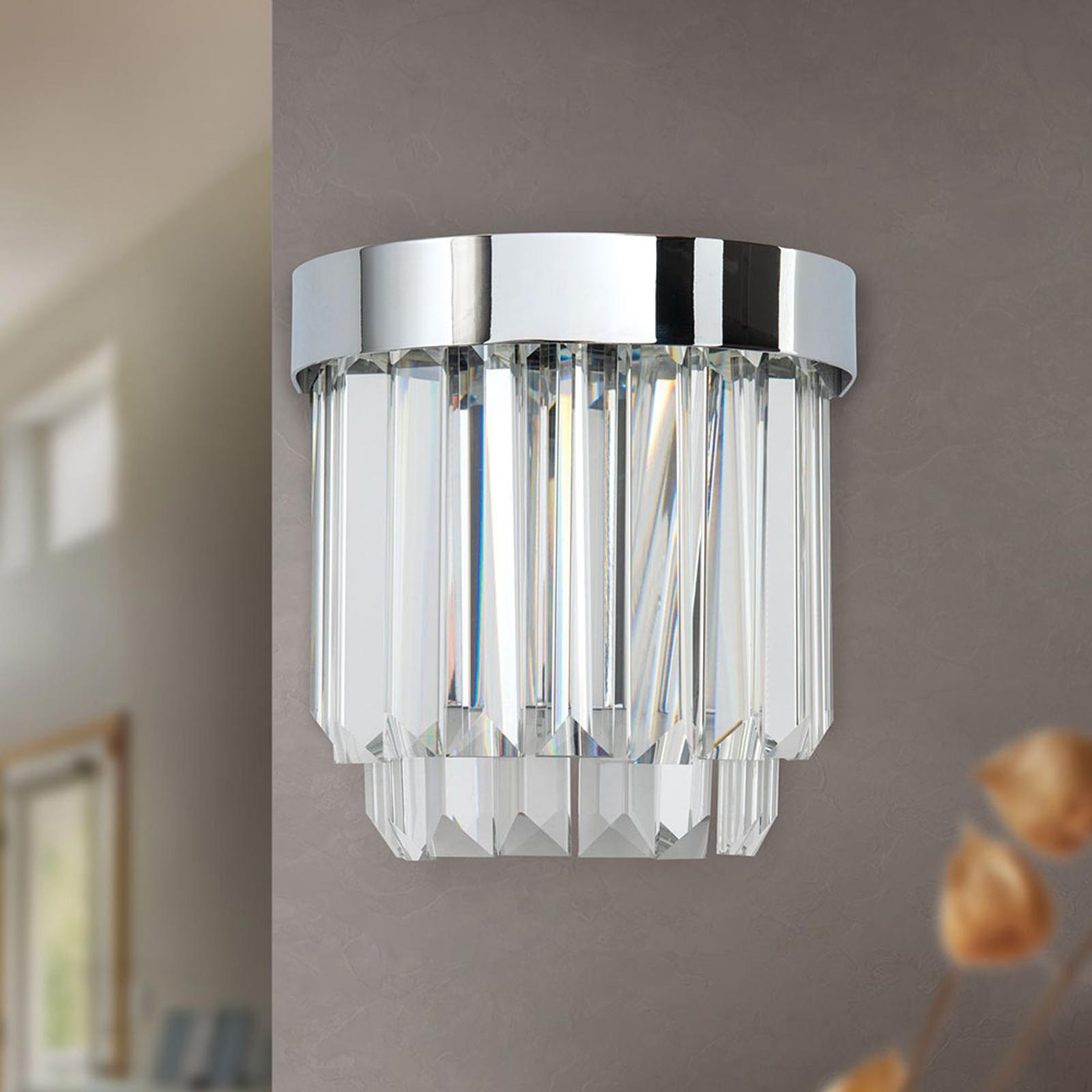 LED-seinävalaisin Prism, ylös- ja alasvalo, kromi