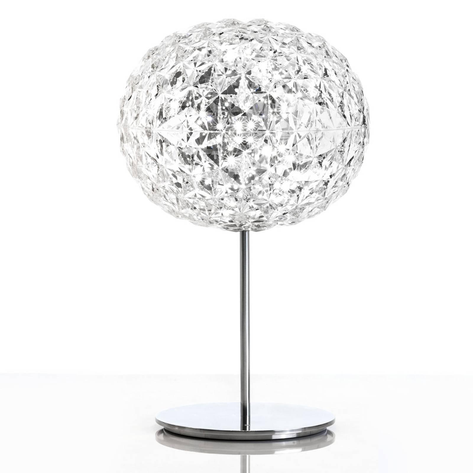 LED-pöytävalaisin Planet, kosketushimm., läpinäk.
