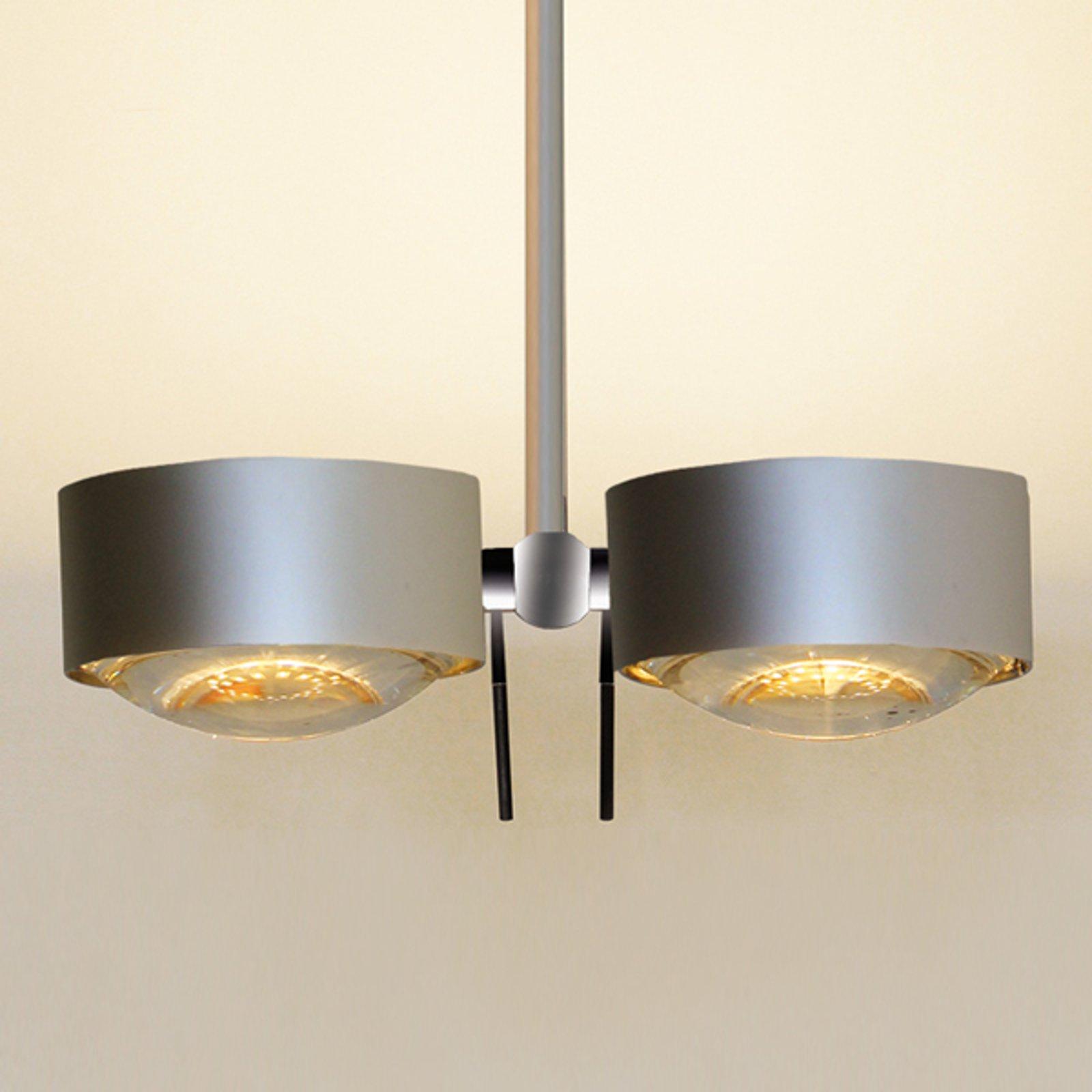 2 lys Taklampe PUK SIDES, krom matt, 30 cm